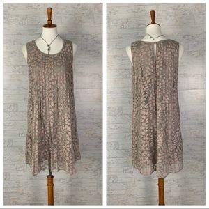 Max Studio mauve lace sleeveless mini dress